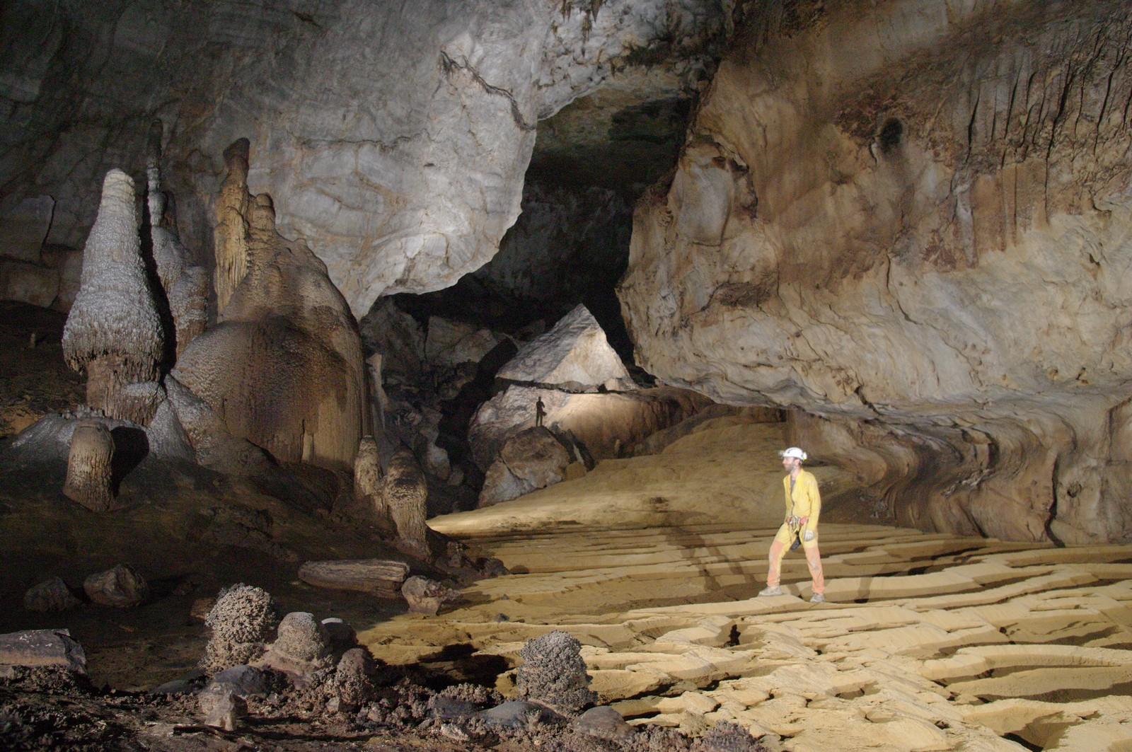 La galleria fossile di Shaowandong (foto Gilles Connes)
