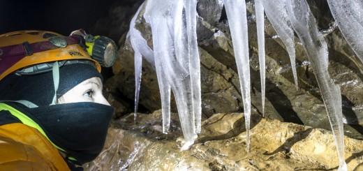 Bus della Niccolina: Particolare delle concrezioni di ghiaccio